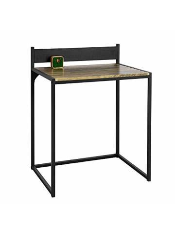 SoBuy Schreibtisch in Natur und Schwarz - (B)70 x (H)90 x (T)50cm