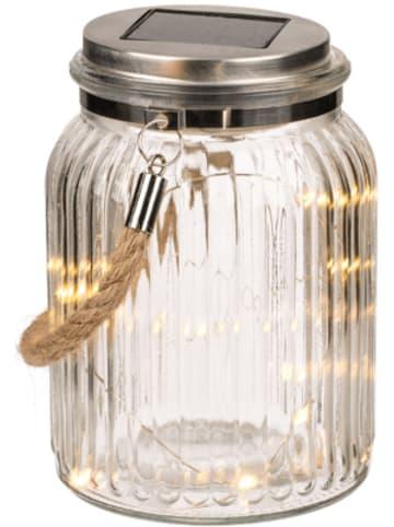 Out of the Blue Deko-Einmachglas mit Juteband, Solarzelle & 10 warmweißen LED