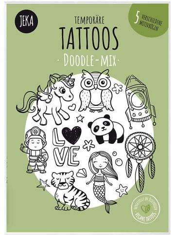 JEKA Papier und Spielwaren Temporäre Tattoos Doddle-Mix