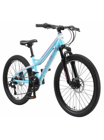 """BIKESTAR Kinder Fahrrad """"Mountainbike"""" in Türkis Weiß - 24 Zoll"""