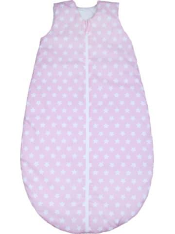 Odenwälder Ganzjahres-Schlafsack , white stars candy pink Gr. 90cm