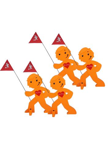 StreetBuddy StreetBuddy Warnfigur für Kindersicherheit in Orange, 4-er Pack