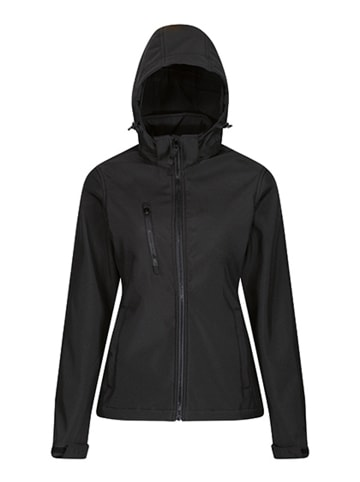 Regatta Professional Softshelljacke  Venturer 3-layer mit Kapuze in Black-Black