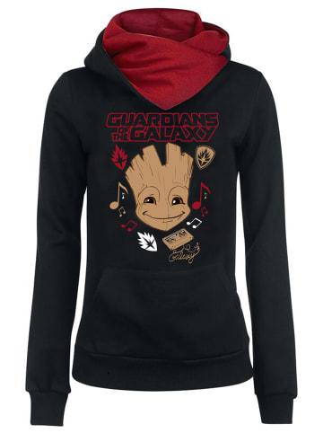 MARVEL Guardians of the Galaxy Schalkragenpullover Music in schwarz/rot