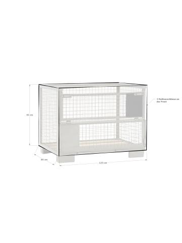 GRASEKAMP Qualität seit 1972 Abdeckung Gitterbox 125x85x95cm in transparent