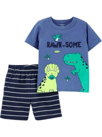 Carter's Kinder Set T-Shirt, Dinosaurier+Shorts