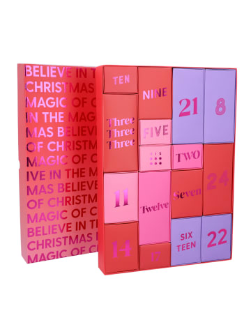 Six Adventskalender zum Befüllen Pink-Töne in lila