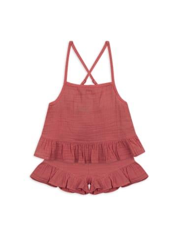 Panco Top Look - mit Rüschendetail - für Mädchen in Rose