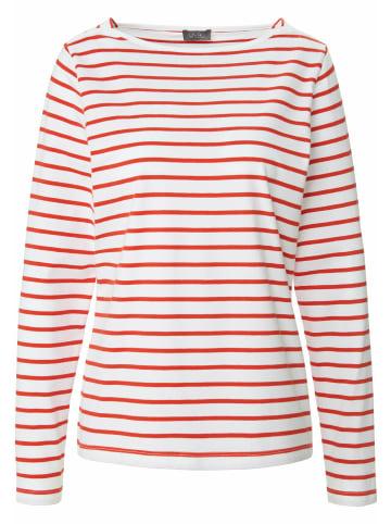 MYBC Shirt mit Streifen-Muster in weiß/rot