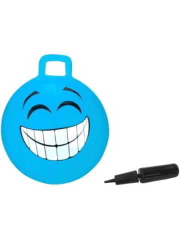 Jamara Hüpfball Smile blau 450mm