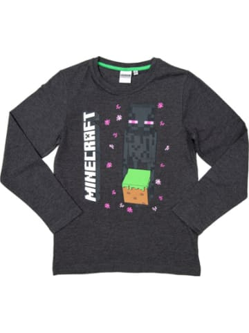 Minecraft Sweatshirt Enderman Drops gray 116cm