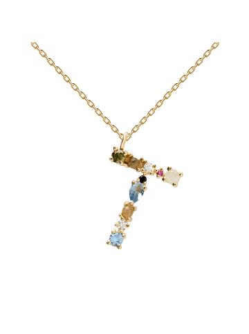 "PDPAOLA Halskette ""Buchstabe T"" in Gold"