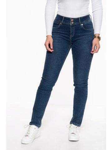 ATT Jeans ATT Jeans Slim Fit Jeans mit hohem Bund Chloe in blau