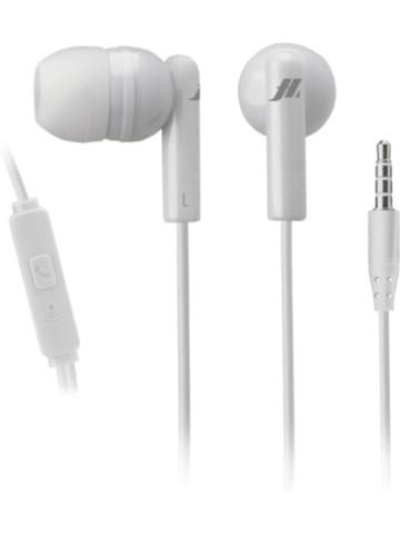 Sbs Kabelgebundene Kopfhörer mit integriertem Mikrofon in weiß