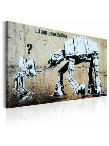 Artgeist Wandbild I Am Your Father by Banksy in Beige,Schwarz,Weiß