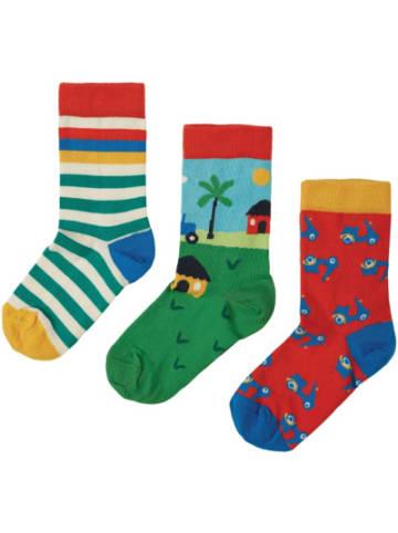 Frugi Socken , 3er-Pack, Organic Cotton