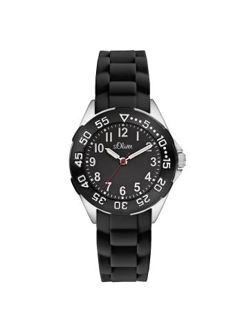 S.Oliver Time Armbanduhr SO-2526-PQ in schwarz