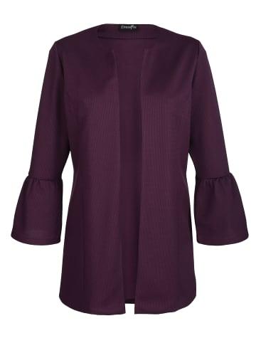 Dress In Shirtjacke in Aubergine