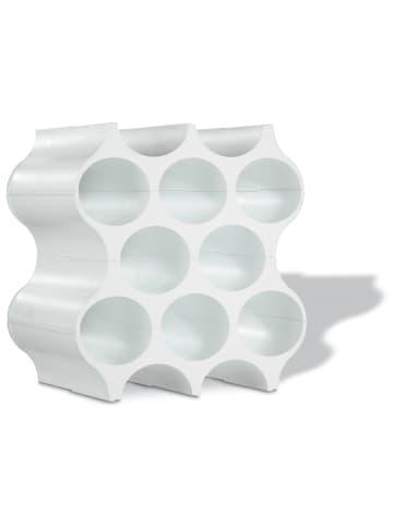 Koziol SET-UP - Flaschenregal in cotton white
