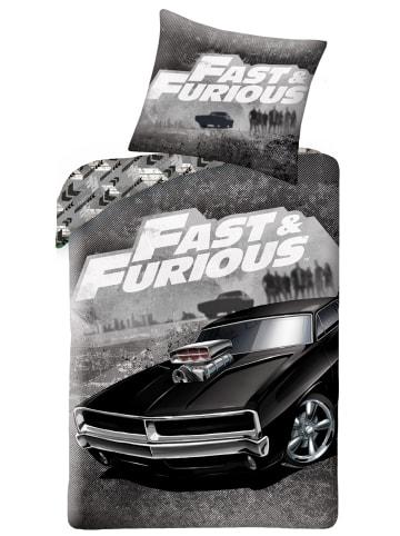 "Fast & Furious Bettwäsche-Set ""Fast & Furious - Autos"" in Schwarz / Grau"