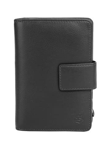 Szuna Geldbörse mit Reißverschluss in schwarz