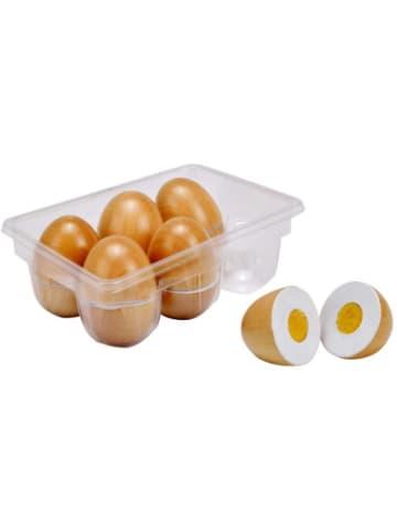 Idena Eierbox Holz, 6 Eier schneidbar