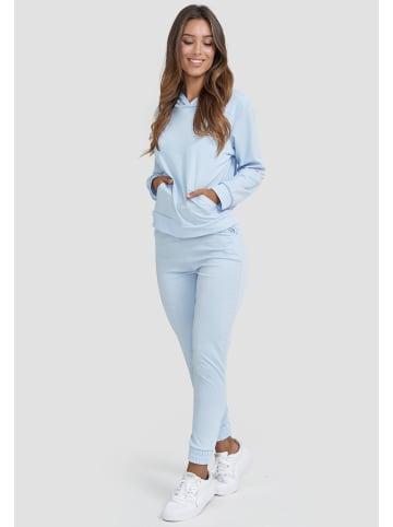Holala Design Freizeit Anzug Zweiteiler Outfit in Hellblau