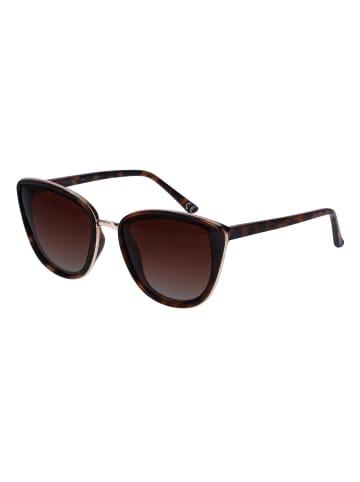 TOSH Cateye Sonnenbrille mit Schildpatt-Optik in BROWN