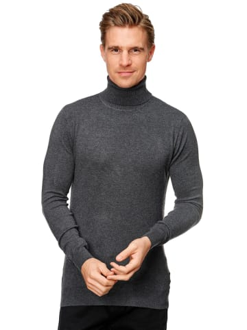 Uniplay Rollkragen Pullover Longsleeves Viskose Stretch in Dunkelgrau
