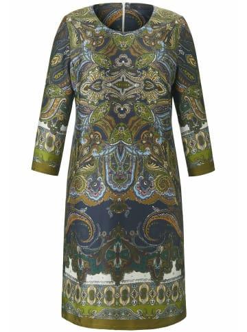EMILIA LAY Abendkleid mit Allover-Muster in grün/multicolor