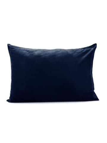 Turiform Kissenbezug Stilvoller Kissenbezug in Baumwollsamt in dark blue