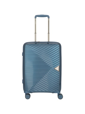 March15 Trading Gotthard 4-Rollen Kabinentrolley 55 cm in orion blue metallic