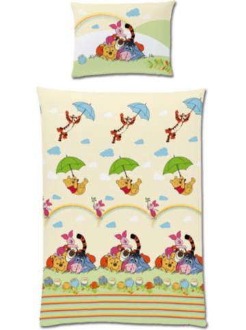 "Disney Winnie Puuh Kinderbettwäsche Winnie Puuh ""Family"", Renforcé, 100 x 135 cm"