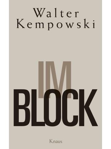 Knaus Im Block   Ein Haftbericht. Mit 32 Bildnotizen des Verfassers