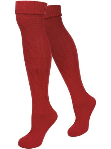 Normani Trachten-Kniestrümpfe in Rot