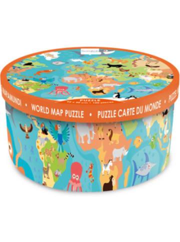 Scratch Puzzle Weltkarte mit Tieren 100 Teile