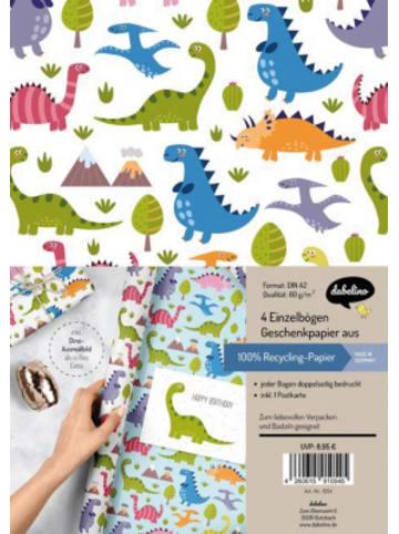 Dabelino Geschenkpapier-Set: Dinosaurier