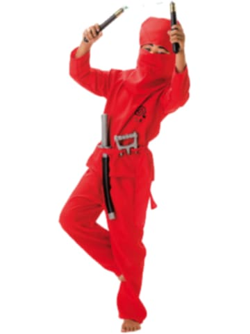 Kunterbunt Kostüm Roter Ninja, 2-tlg.
