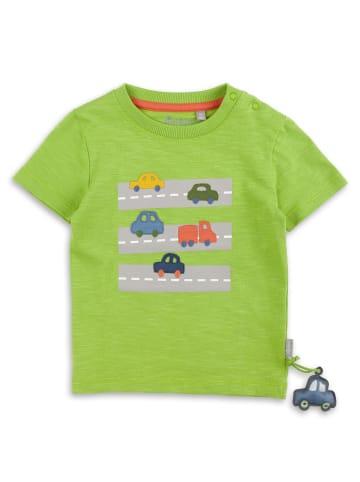 """Sigikid T-Shirt """"Autos"""" in Grün"""