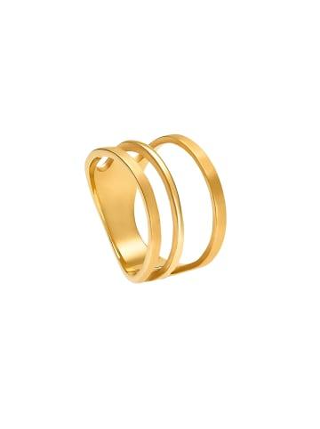 Steel_Art Fingerring Unda in Vergoldet