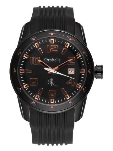 "Orphelia Analog Uhr ""Blacksmith"" In Schwarz/Schwarz"