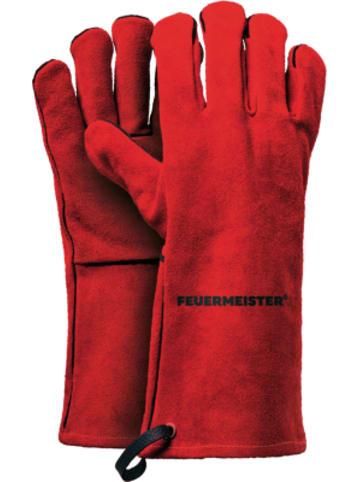 "Feuermeister® 2er-Set Premium Spalt-Leder Grill-Handschuhe """"BBQ"""