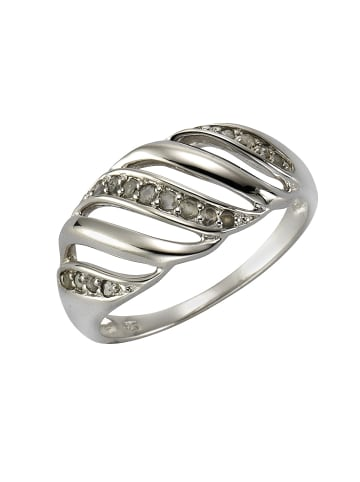 Diamonds by Ellen K. Diamantringe 925/- Sterling Silber in weiß