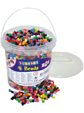 Playbox Bügelperlen im Eimer, 5.000 Stück, 10-Farben-Mix