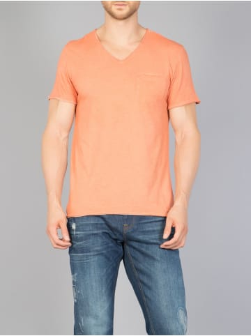 Colin's T Shirt mit Used Waschung in orange