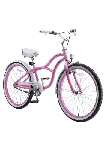 "BIKESTAR Kinder Fahrrad ""Cruiser"" in Pink - 24 Zoll"
