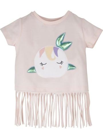 Mamino Kindermode Mädchen T-Shirt mit Applikationen in rosa
