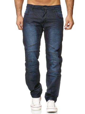 WANGUE Jeans Hose Coated Beschichtet H2617 in Blau