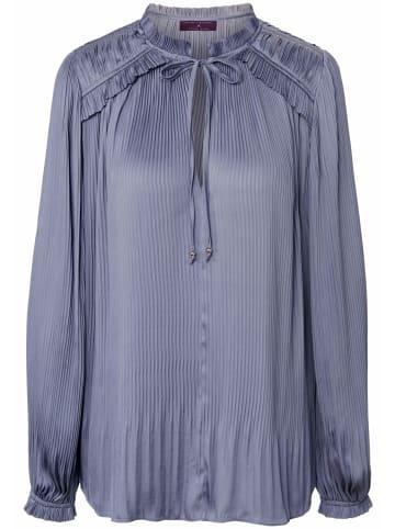 TALBOT RUNHOF X PETER HAHN Langarmbluse Pull-on style blouse with pleats in himmelblau