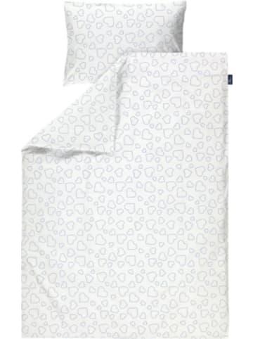 Alvi Bettwäsche Standard Hearts white, 100 x 135 + 40 x 60 cm